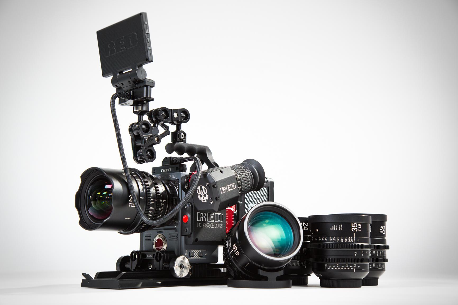 RED Scarlet W - Sigma Cine Prime Package