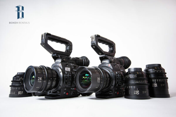(2x) Canon EOS C300 Mark II w/ Sigma Cine FF High Speed Primes 5 Lens set